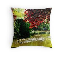 """ A typical English scene"" Throw Pillow"