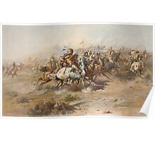 The Custer Fight - Battle of Little Bighorn Poster