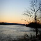 Ohio River Sunset by tabbymichelle