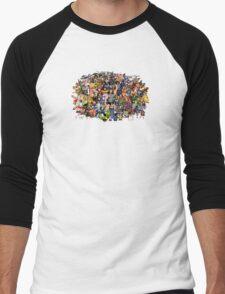 Amiga Game Characters Men's Baseball ¾ T-Shirt
