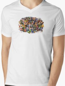 Amiga Game Characters Mens V-Neck T-Shirt