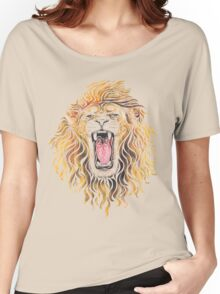 Swirly Lion Women's Relaxed Fit T-Shirt