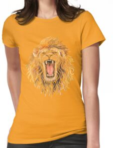 Swirly Lion Womens Fitted T-Shirt