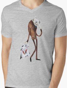 Count Vanilla Mens V-Neck T-Shirt