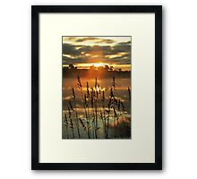 Morning Mist above the Loch Framed Print
