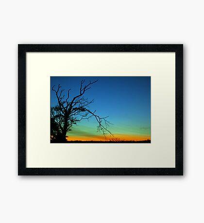 Layered Sunset  Framed Print