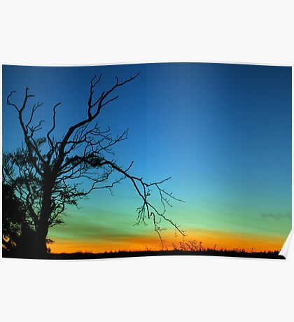 Layered Sunset  Poster