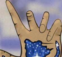 Galaxy in hand Sticker