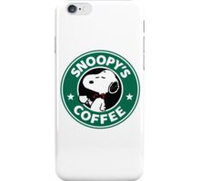 Snoopy Starbucks iPhone Case/Skin