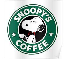 Snoopy Starbucks Poster