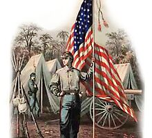 AMERICAN, CIVIL WAR, SOLDIER, UNION, ARMY, STAR SPANGLED, BANNER, USA by TOM HILL - Designer
