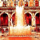 Parisian Mosaic - Piece 28 - Fountains at the Louvre by Igor Shrayer