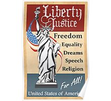Liberty and Justice Poster
