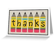 Pencil Thanks Greeting Card