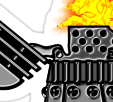 INCINERATE (with flame) Sticker