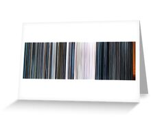 Moviebarcode: THX 1138 (1971) Greeting Card