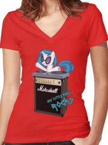 My Little Pony Rocks Women's Fitted V-Neck T-Shirt
