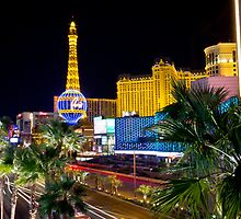 Paris, Las Vegas, by night by Philip Kearney