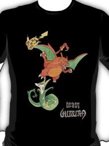 Laura's Pikachu, Charizard and Serperior T-Shirt