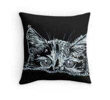 Snow Cat Throw Pillow