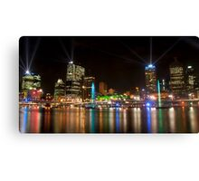 City of Lights, Brisbane Festival 2011 Canvas Print