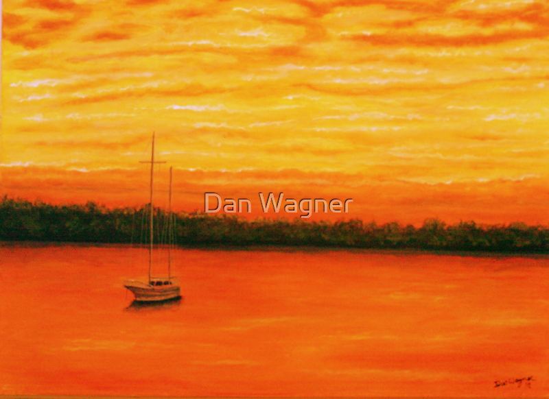 Sunset on the lake. by Dan Wagner