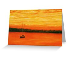 Sunset on the lake. Greeting Card
