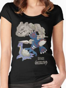 Becci's Kyogre, Lapras and Steelix Women's Fitted Scoop T-Shirt