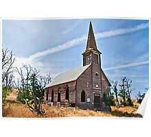 Locust Grove Church, Sherman County, Oregon USA Poster