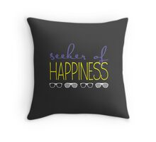 Seeker of happiness Throw Pillow