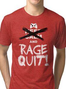 RAGE QUIT! The Xbox Version Tri-blend T-Shirt