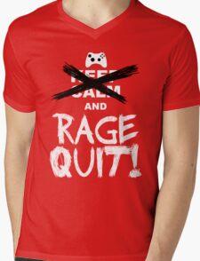 RAGE QUIT! The Xbox Version Mens V-Neck T-Shirt