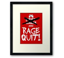 RAGE QUIT! Poster (Xbox Version) Framed Print