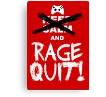 RAGE QUIT! Poster (Xbox Version) Canvas Print