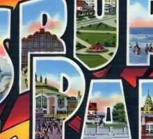 Greetings From Asbury Park Vintage Postcard Sticker Sticker