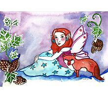 Fairy and a Fox Photographic Print