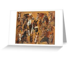 The Winners of The Hickstead Show Jumping Derby. Greeting Card