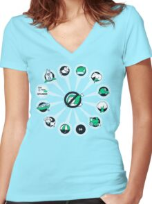 Where I Like Them - Green Eggs and Ham Women's Fitted V-Neck T-Shirt