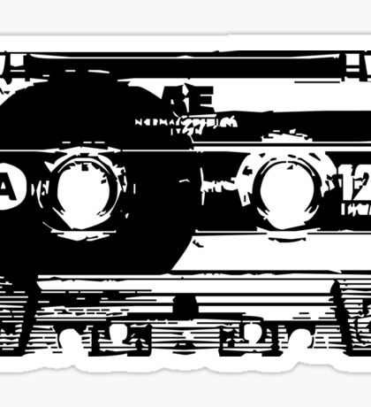Cassette Tape Mixtape Stencil Sticker Sticker