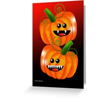 SAVAGE PUMPKINS Greeting Card