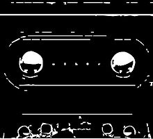 Cassette Tape Mixtape Stencil 3 Sticker by ukedward