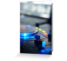 DJ Mixer Greeting Card