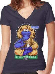 One With Cookie Women's Fitted V-Neck T-Shirt