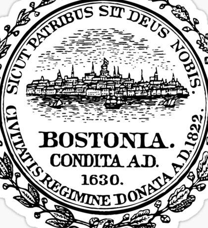 Boston Massachusetts City Seal Sticker Sticker