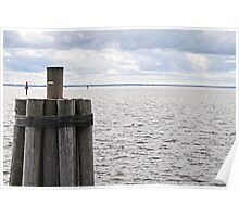 Choppy Water, Cloudy Sky Poster