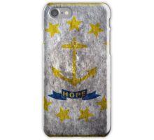 Rhode Island Grunge iPhone Case/Skin