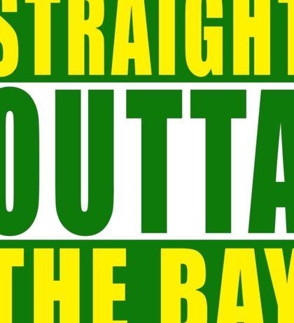 Straight Outta The Bay Green Sticker