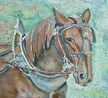 Plow horse by Saga Sabin