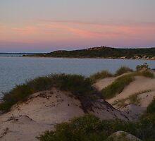Monkey Mia Western Australia, Sunrise over the Dunes by Virginia  McGowan