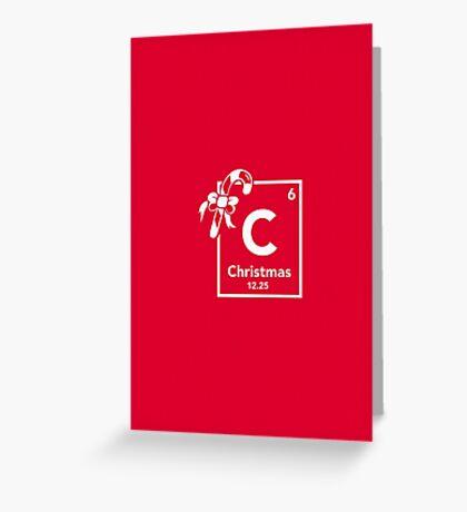 Chemistry of Christmas - Geeky Christmas Shirt Greeting Card